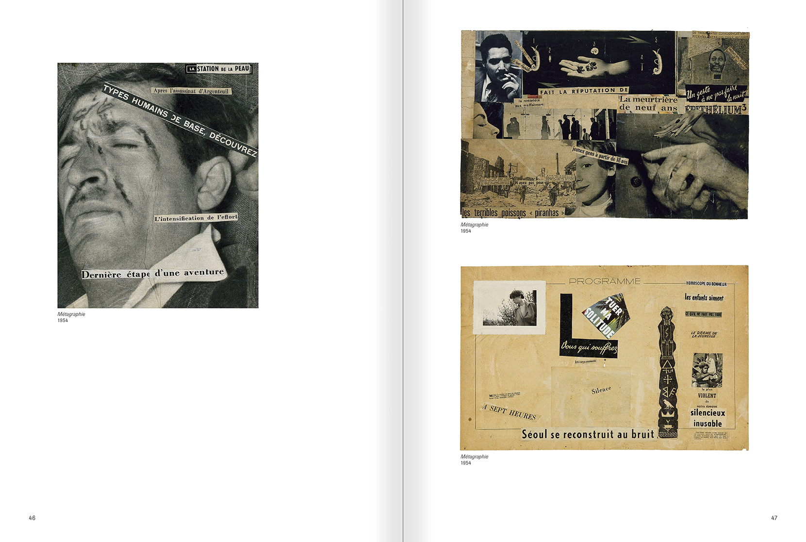 Selection from the catalogue 'Gil J Wolman. I am immortal and alive', pages 46 and 47