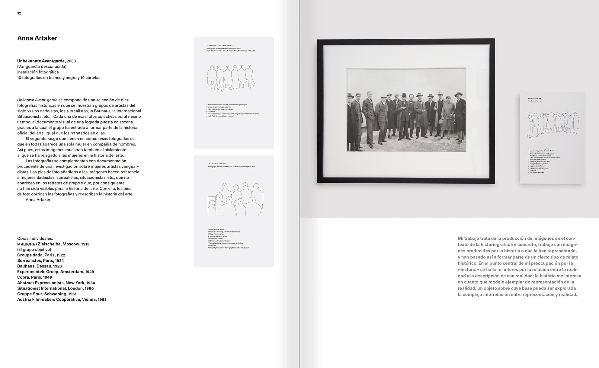"""Selección del catálogo """"Modernologías. Artistas contemporáneos investigan la modernidad y el modernismo"""" páginas 52 y 53"""