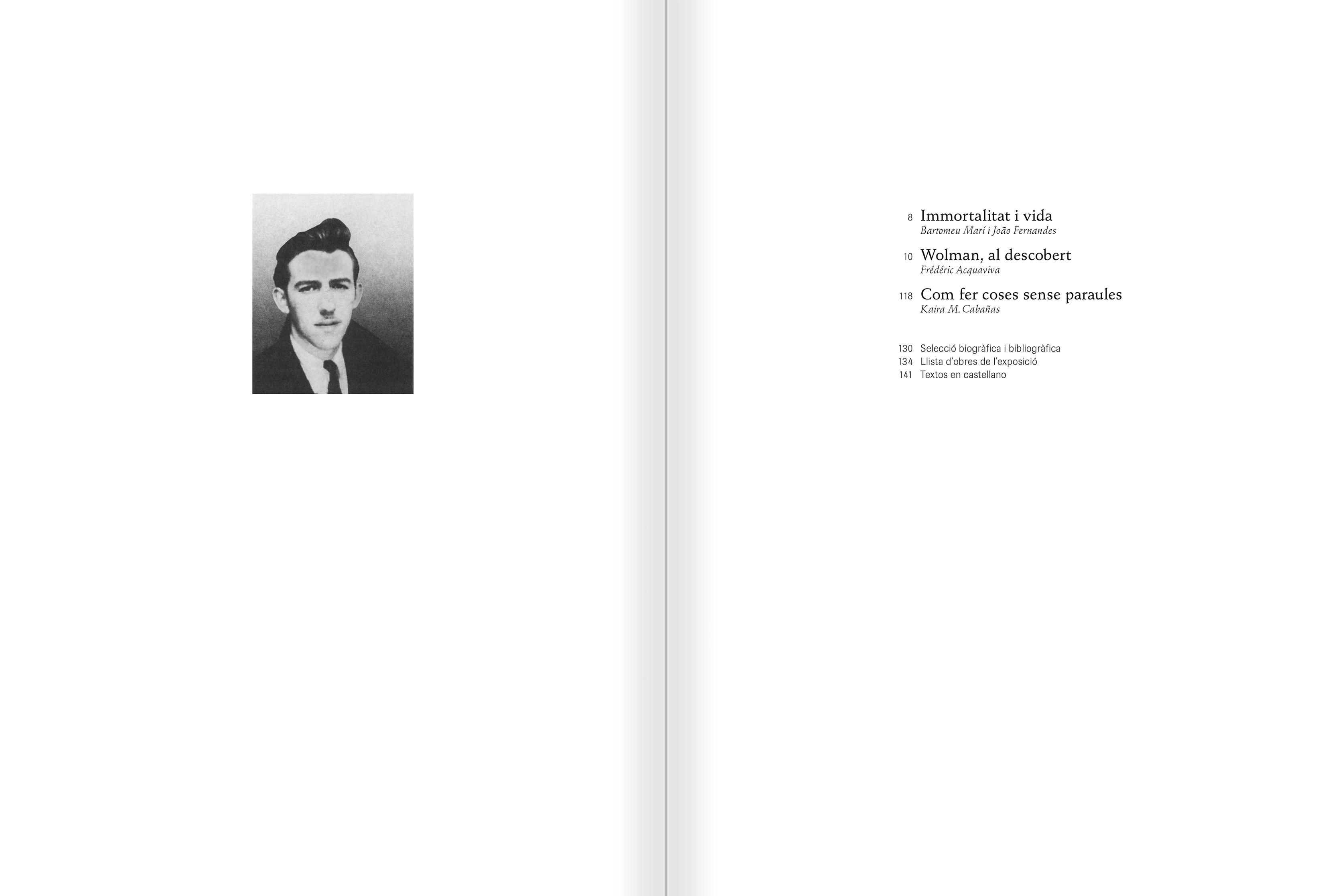 """Selecció del catàleg """"Gil J Wolman. Sóc inmortal i estic viu"""" pàgines 6 i 7"""