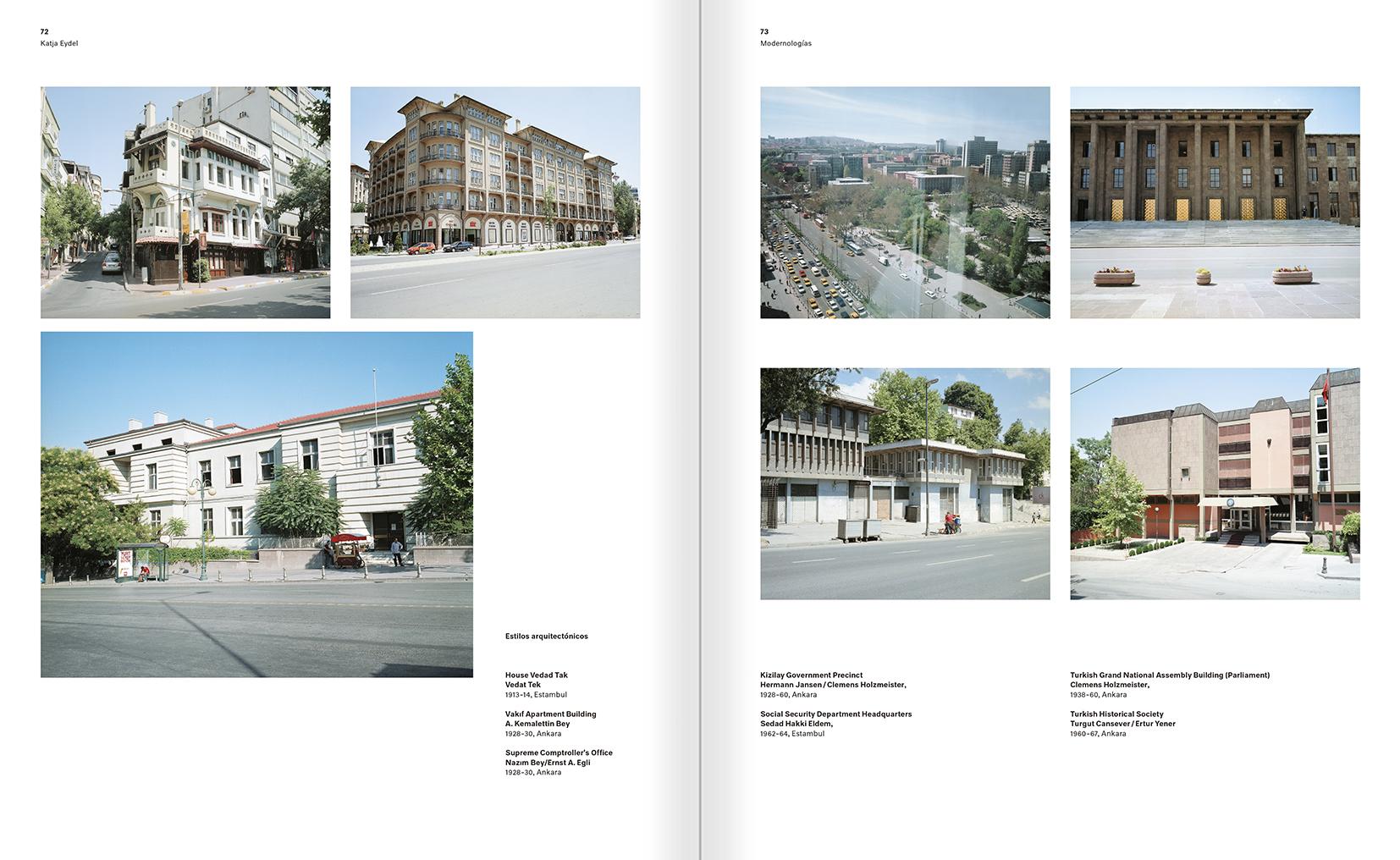 """Selección del catálogo """"Modernologías. Artistas contemporáneos investigan la modernidad y el modernismo"""" páginas 72 y 73"""