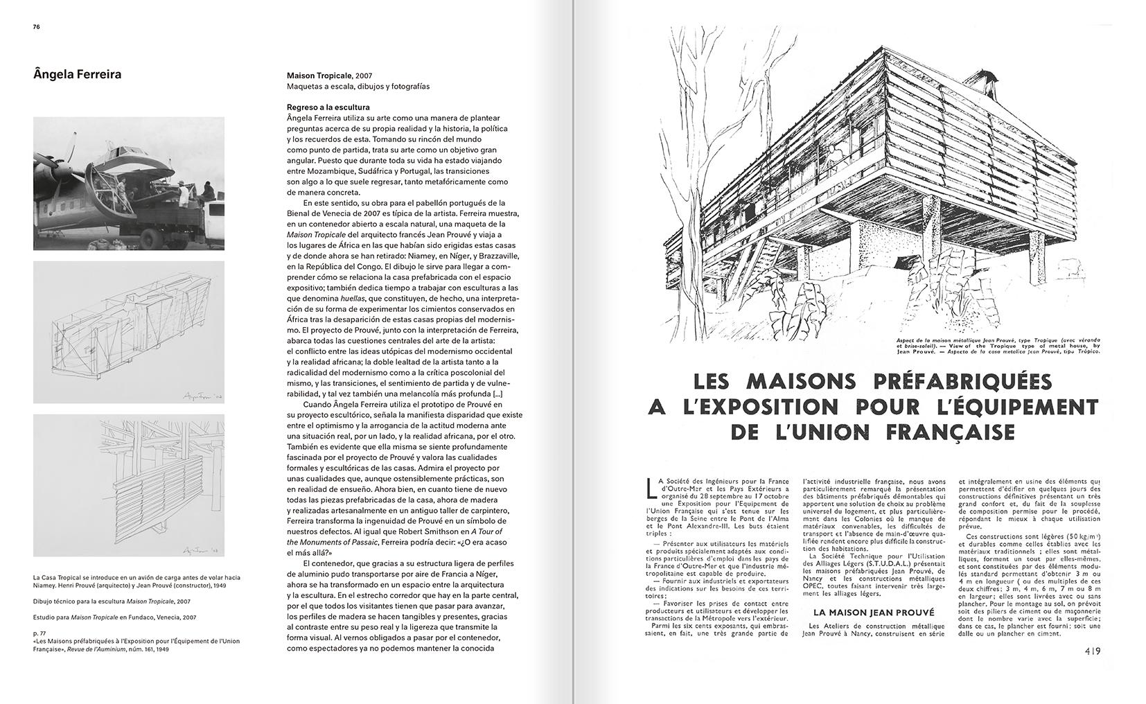 """Selección del catálogo """"Modernologías. Artistas contemporáneos investigan la modernidad y el modernismo"""" páginas 76 y 77"""