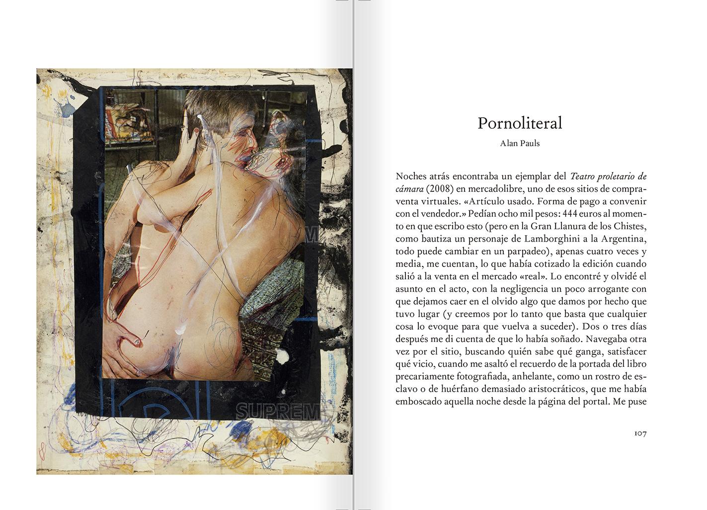 """Selecció del catàleg """"El sexo que habla. Osvaldo Lamborghini"""" pàgines 106 i 107"""