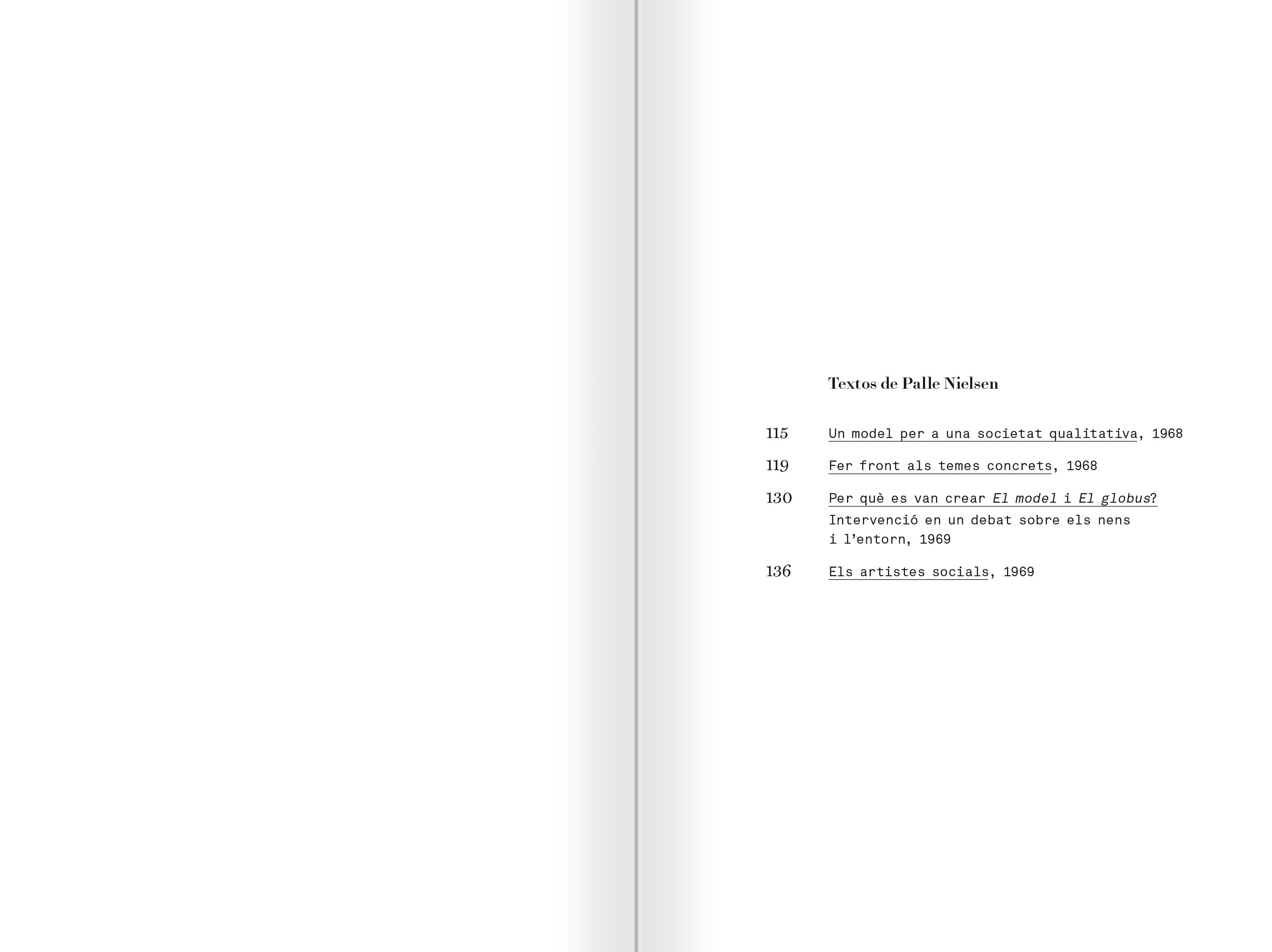 """Selecció del catàleg """"Palle Nielsen. El model. Un model per a una societat qualitativa"""" pàgines 112 i 113"""