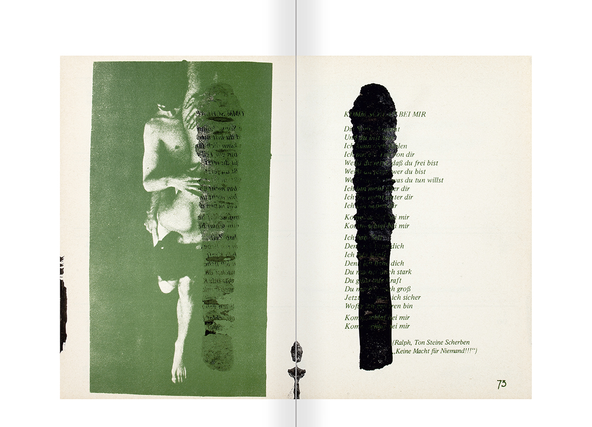 """Selecció del catàleg """"El sexo que habla. Osvaldo Lamborghini"""" pàgines 168 i 169"""