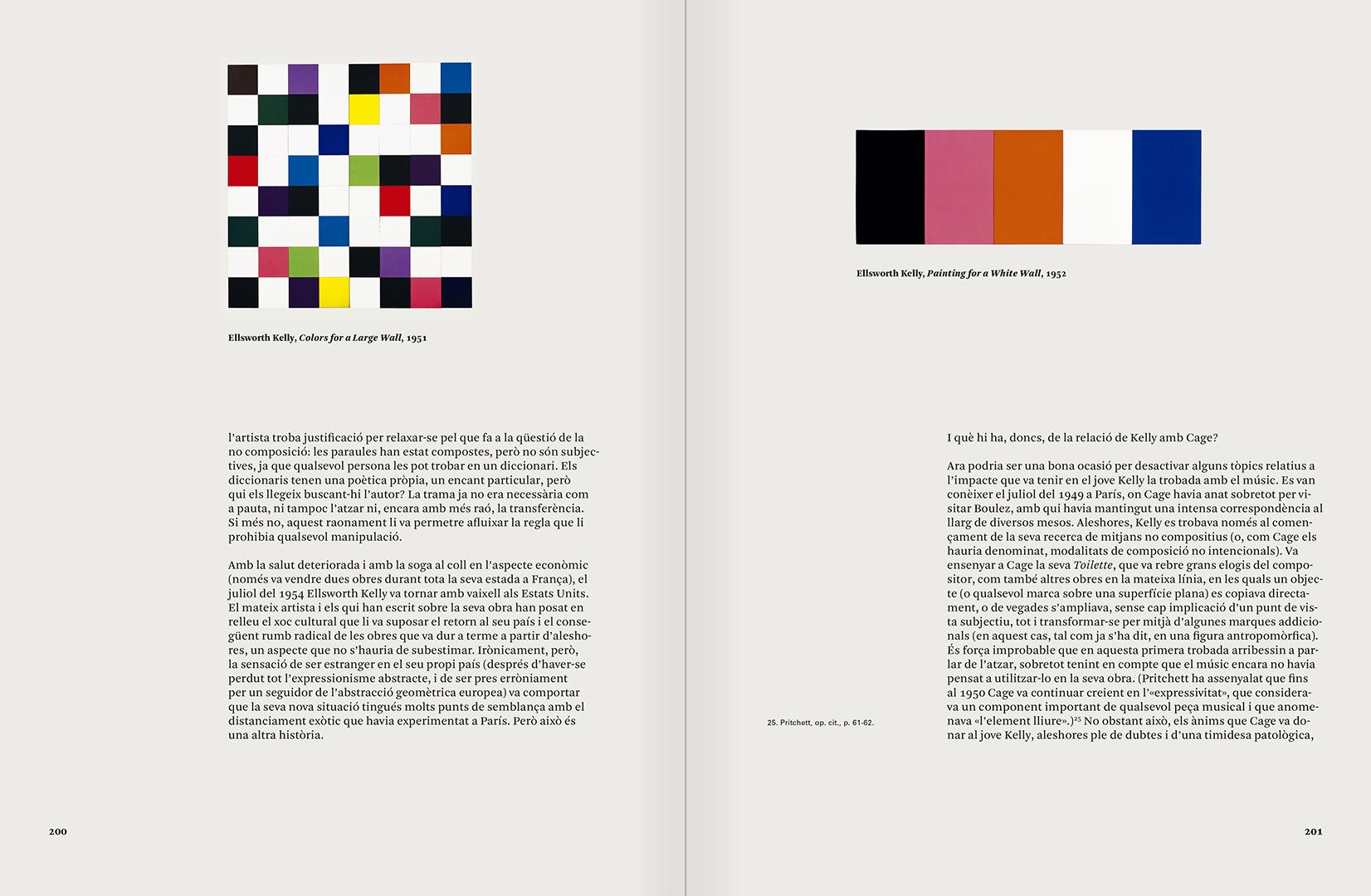 """Selecció del catàleg """"L'anarquia del silenci. John Cage i l'art experimental"""" pàgines 200 i 201"""