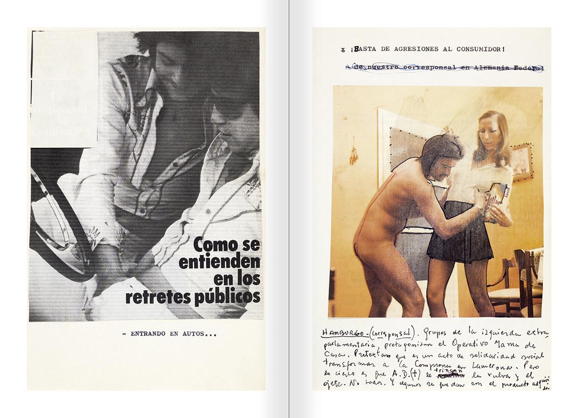 """Selecció del catàleg """"El sexo que habla. Osvaldo Lamborghini"""" pàgines 212 i 213"""