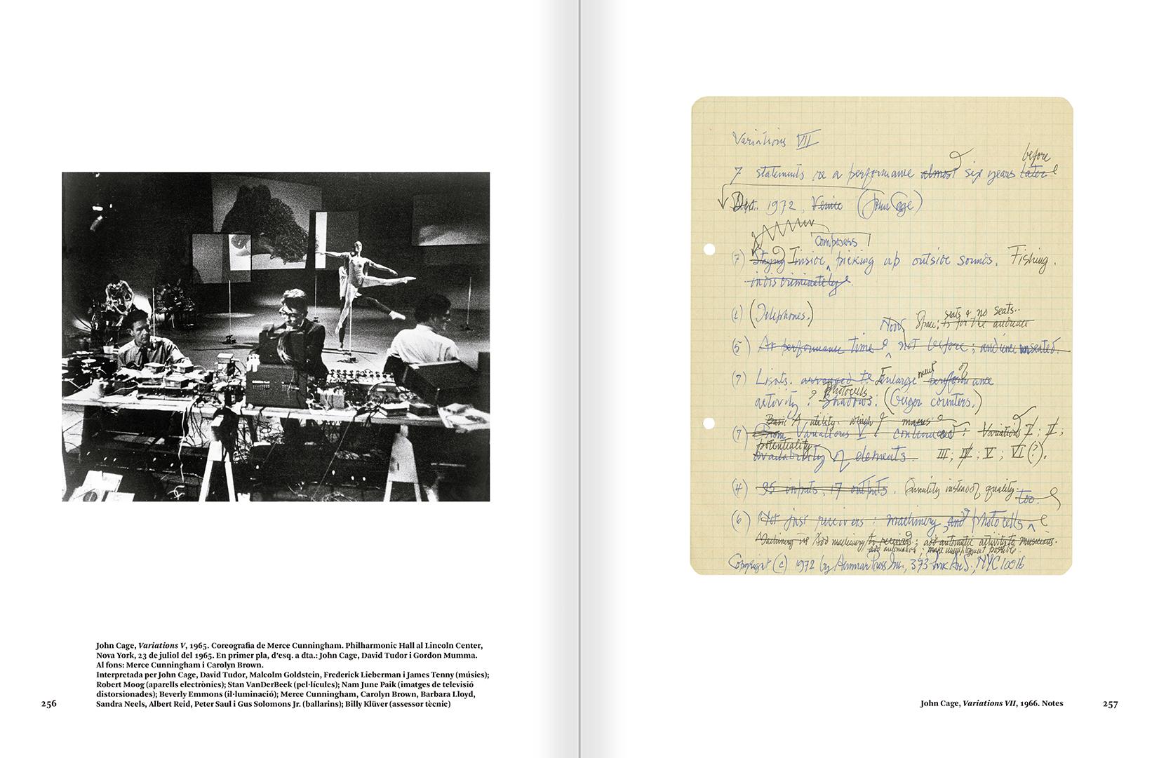 """Selecció del catàleg """"L'anarquia del silenci. John Cage i l'art experimental"""" pàgines 256 i 257"""