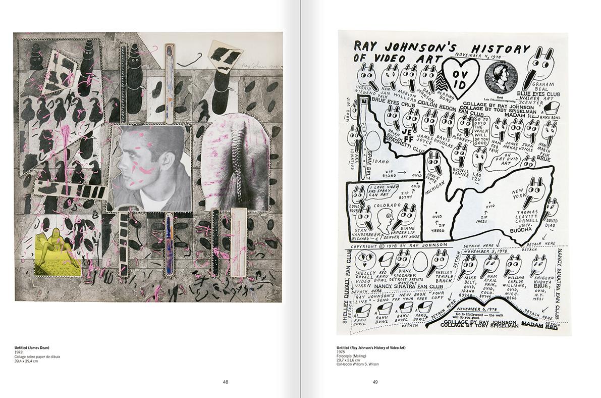 """Selecció del catàleg """"Ray Johnson. Please Add To & Return"""" pàgines 48 i 49"""