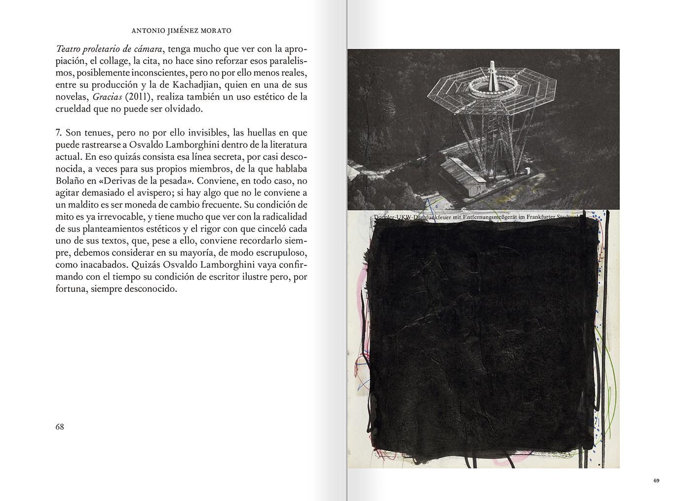 """Selecció del catàleg """"El sexo que habla. Osvaldo Lamborghini"""" pàgines 68 i 69"""