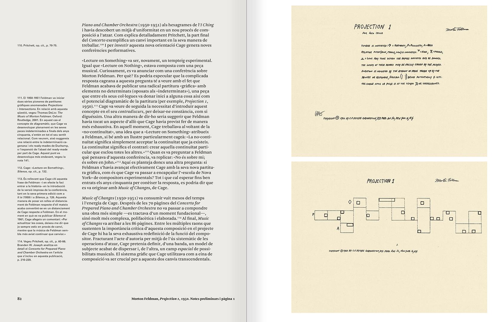 """Selecció del catàleg """"L'anarquia del silenci. John Cage i l'art experimental"""" pàgines 82 i 83"""