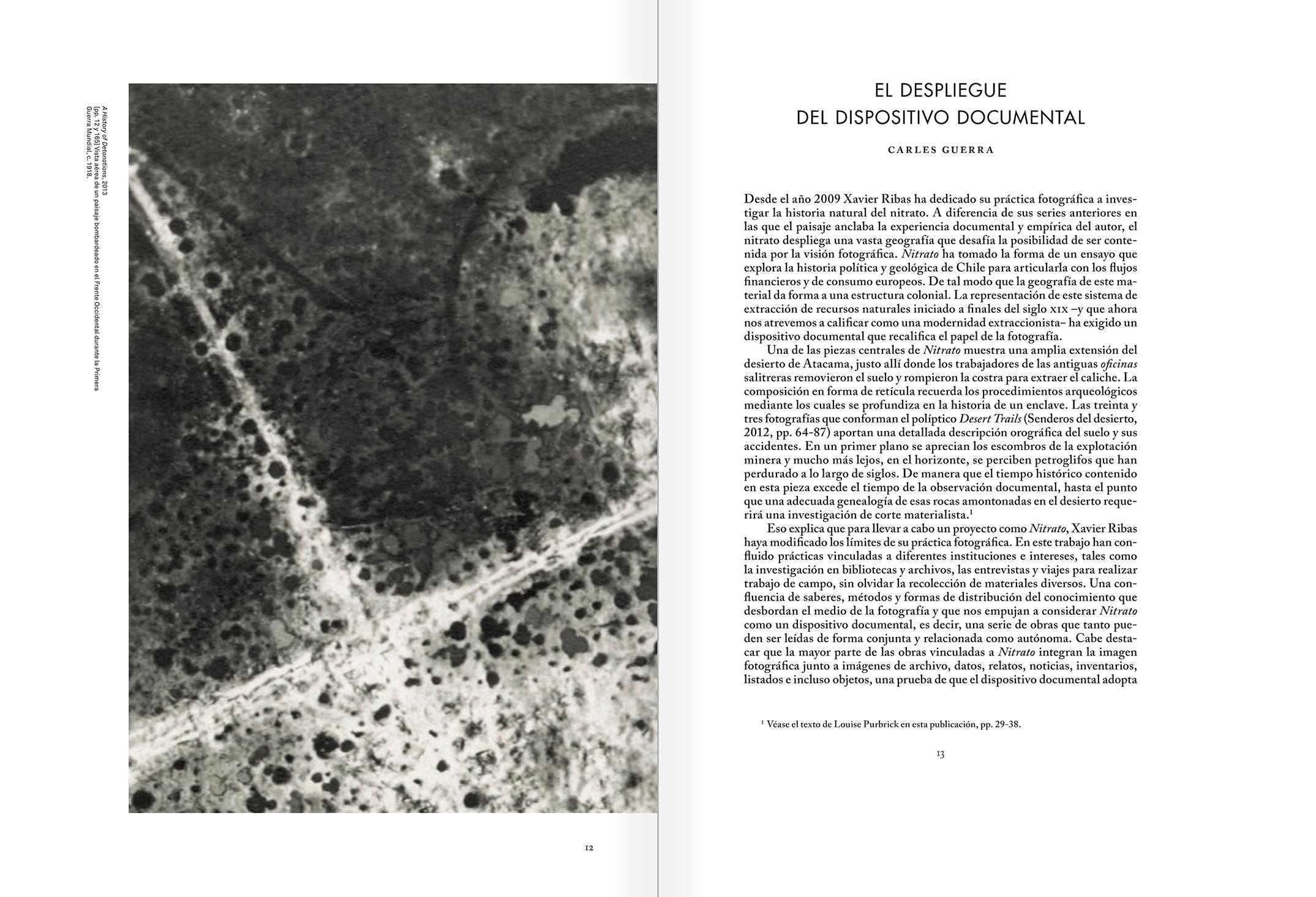 """Selección del catálogo """"Xavier Ribas. Nitrato"""" páginas 12 y 13"""