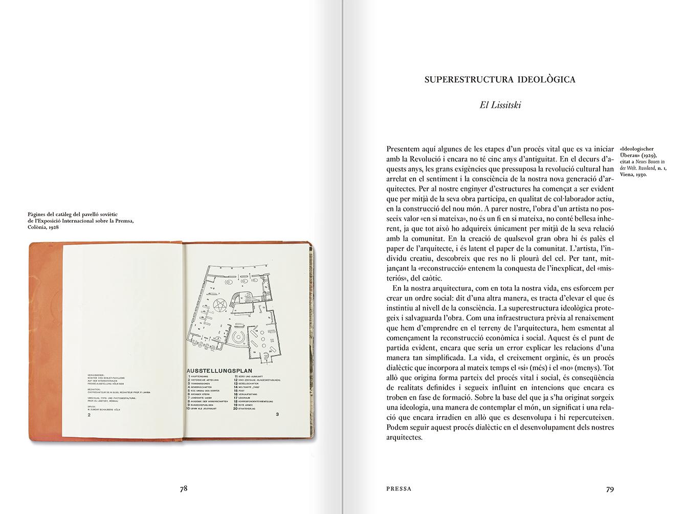 """Selección del catálogo """"Espacios fotográficos públicos. Exposiciones de propaganda, de Pressa a The Family of Man, 1928-1955"""" páginas 78 y 79"""