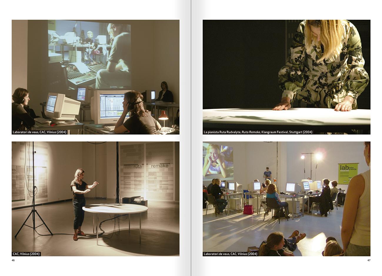 """Selecció del catàleg """"Nomeda & Gediminas Urbonas. Dispositius per a l'acció"""" pàgines 46 i 47"""