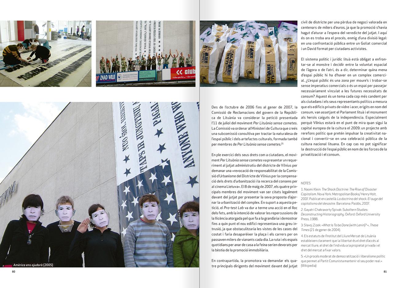 """Selecció del catàleg """"Nomeda & Gediminas Urbonas. Dispositius per a l'acció"""" pàgines 80 i 81"""
