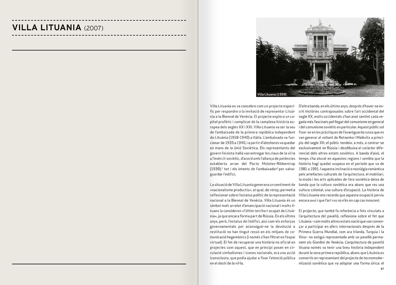 """Selecció del catàleg """"Nomeda & Gediminas Urbonas. Dispositius per a l'acció"""" pàgines 86 i 87"""