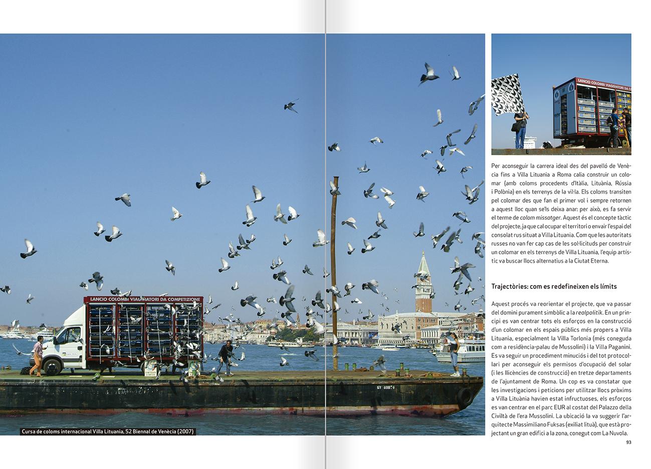 """Selecció del catàleg """"Nomeda & Gediminas Urbonas. Dispositius per a l'acció"""" pàgines 92 i 93"""
