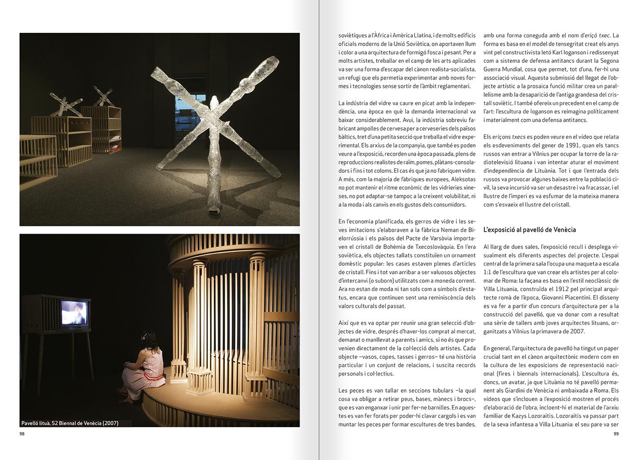 """Selecció del catàleg """"Nomeda & Gediminas Urbonas. Dispositius per a l'acció"""" pàgines 98 i 99"""