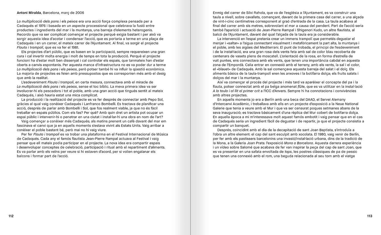 """Selecció del catàleg """"Galeria Cadaqués. Obres de la Col·lecció Bombelli"""" pàgines 112 i 113"""