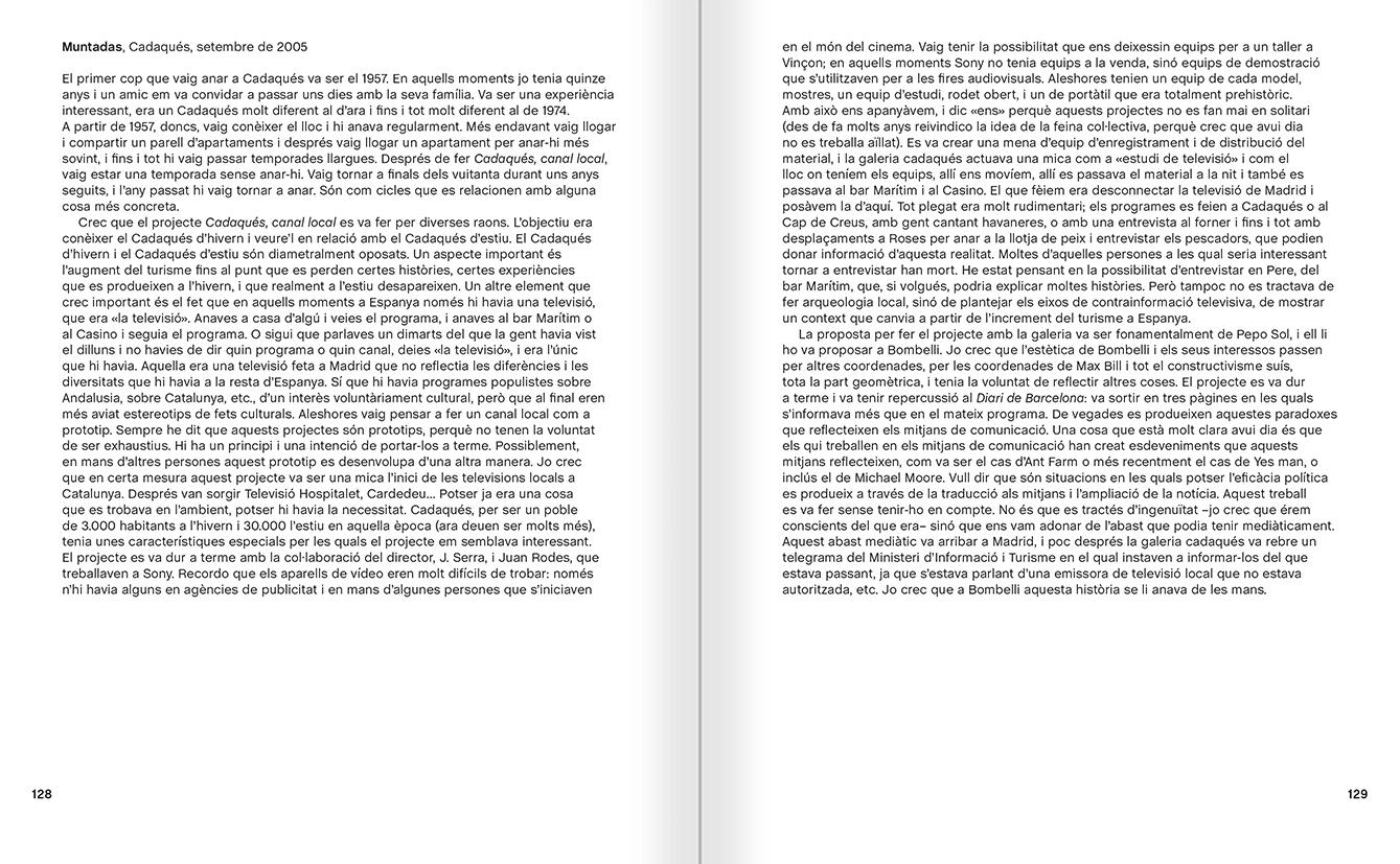"""Selecció del catàleg """"Galeria Cadaqués. Obres de la Col·lecció Bombelli"""" pàgines 128 i 129"""