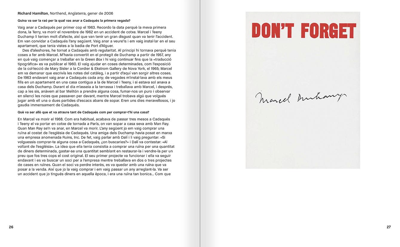 """Selecció del catàleg """"Galeria Cadaqués. Obres de la Col·lecció Bombelli"""" pàgines 26 i 27"""