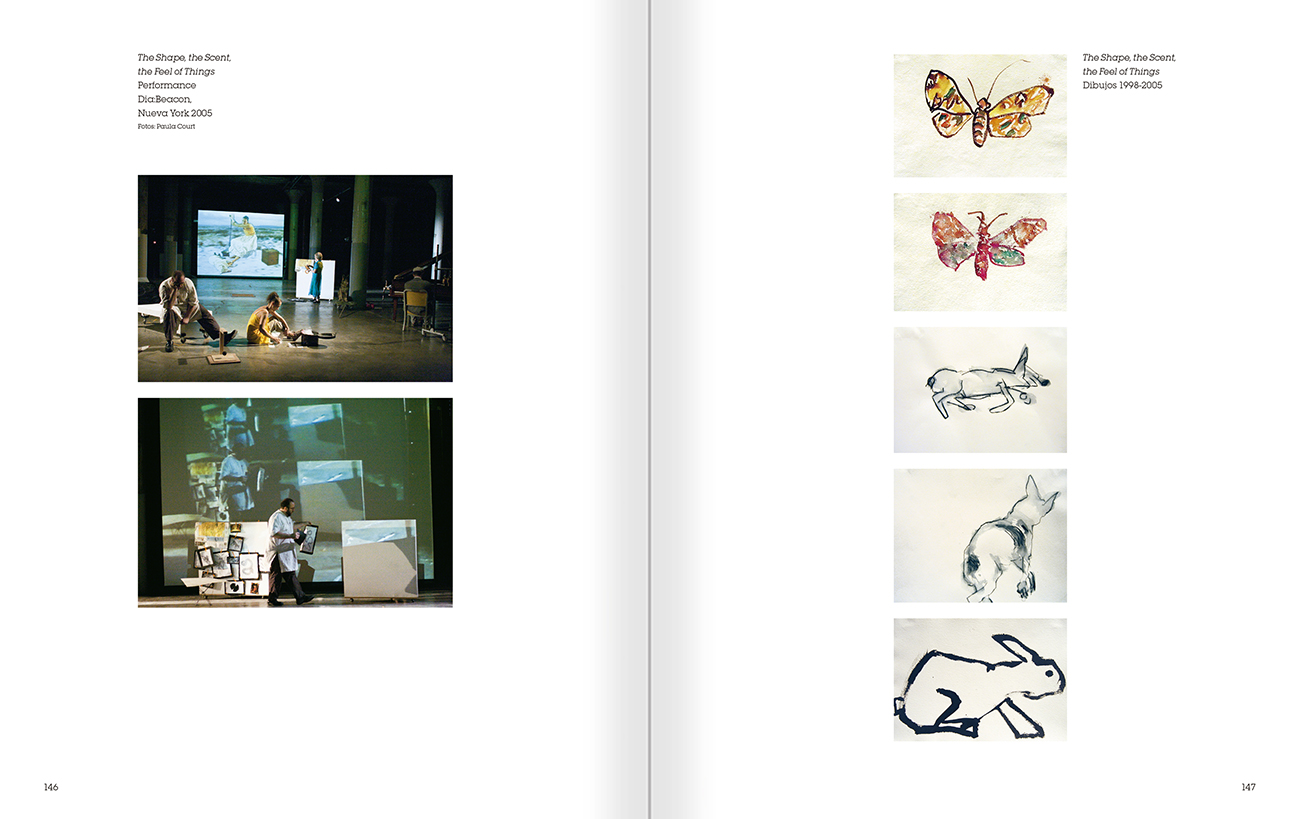 Selection from the catalogue 'Joan Jonas. Timelines: Transparencies in a Dark Room', pages 146 and 147