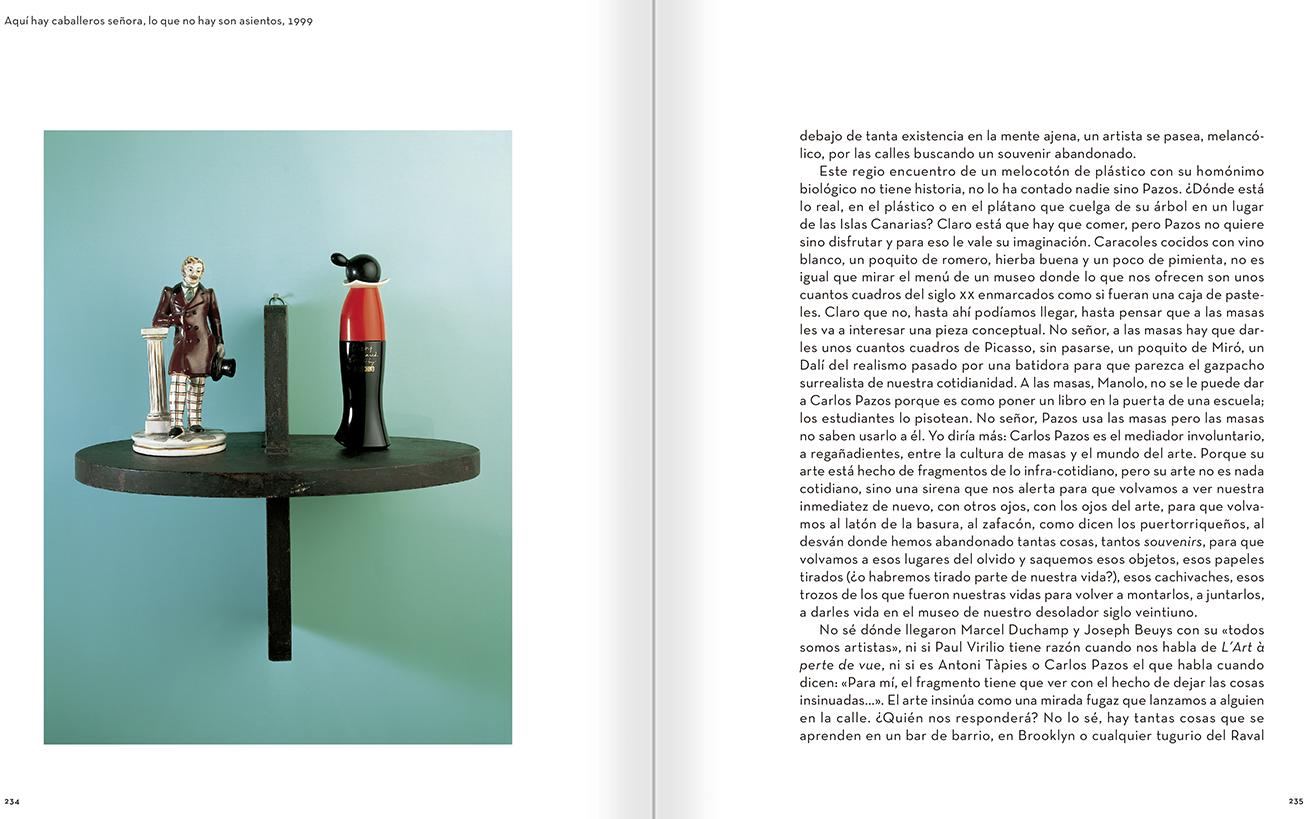 """Selección del catálogo """"Carlos Pazos. No me digas nada"""" páginas 234 y 235"""