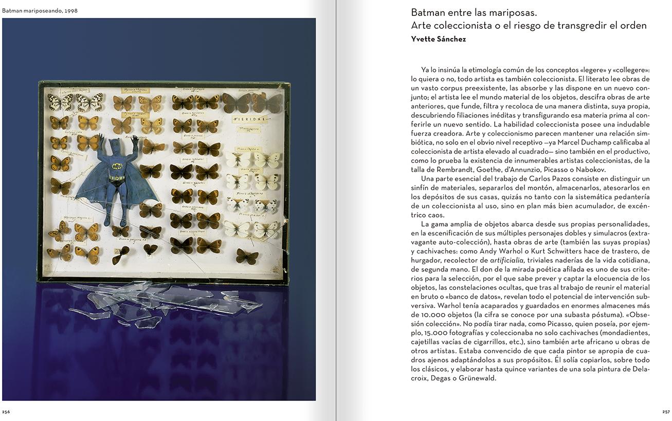 """Selección del catálogo """"Carlos Pazos. No me digas nada"""" páginas 256 y 257"""