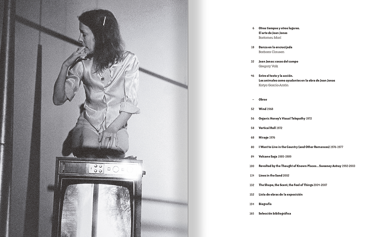 Selection from the catalogue 'Joan Jonas. Timelines: Transparencies in a Dark Room', pages 04 and 05