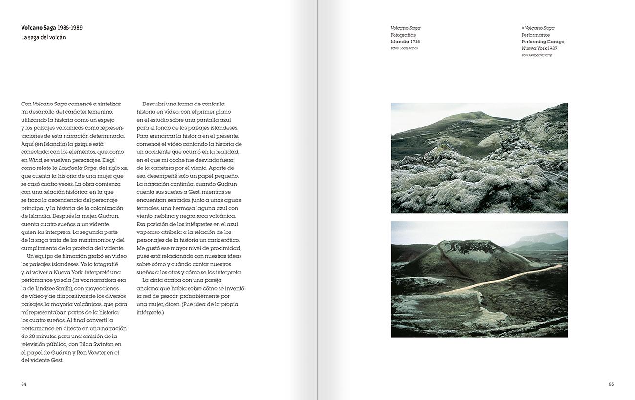 """Selección del catálogo """"Joan Jonas. Timelines: transparencias en una habitación oscura"""" páginas 84 y 85"""