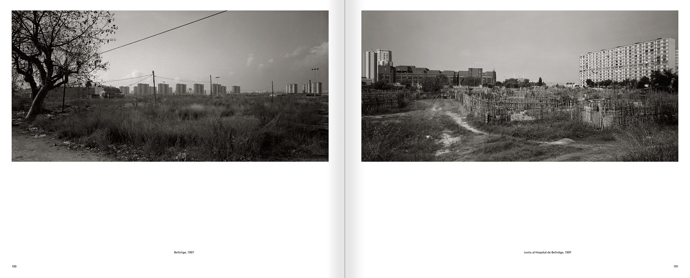 """Selecció del catàleg """"Barcelona 1978-1997. Manolo Laguillo"""" pàgines 190 i 191"""