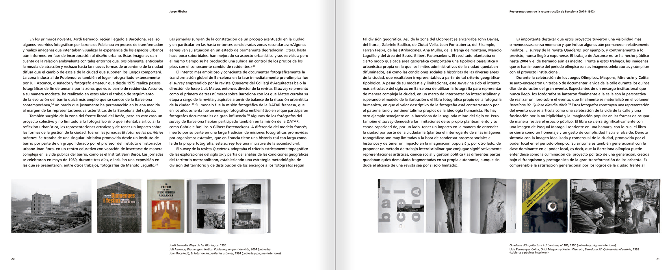 Selection from the catalogue 'Barcelona 1978-1997. Manolo Laguillo', pages 20 and 21