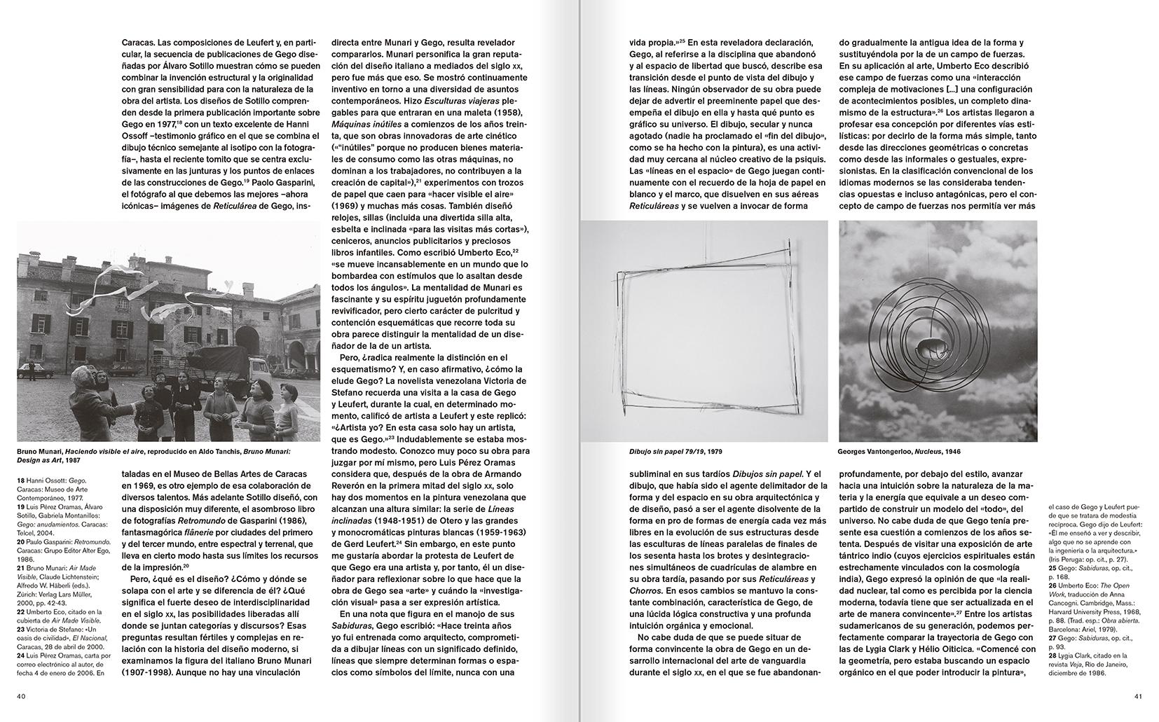 """Selecció del catàleg """"Gego. Desafiando estructuras"""" pàgines 40 i 41"""