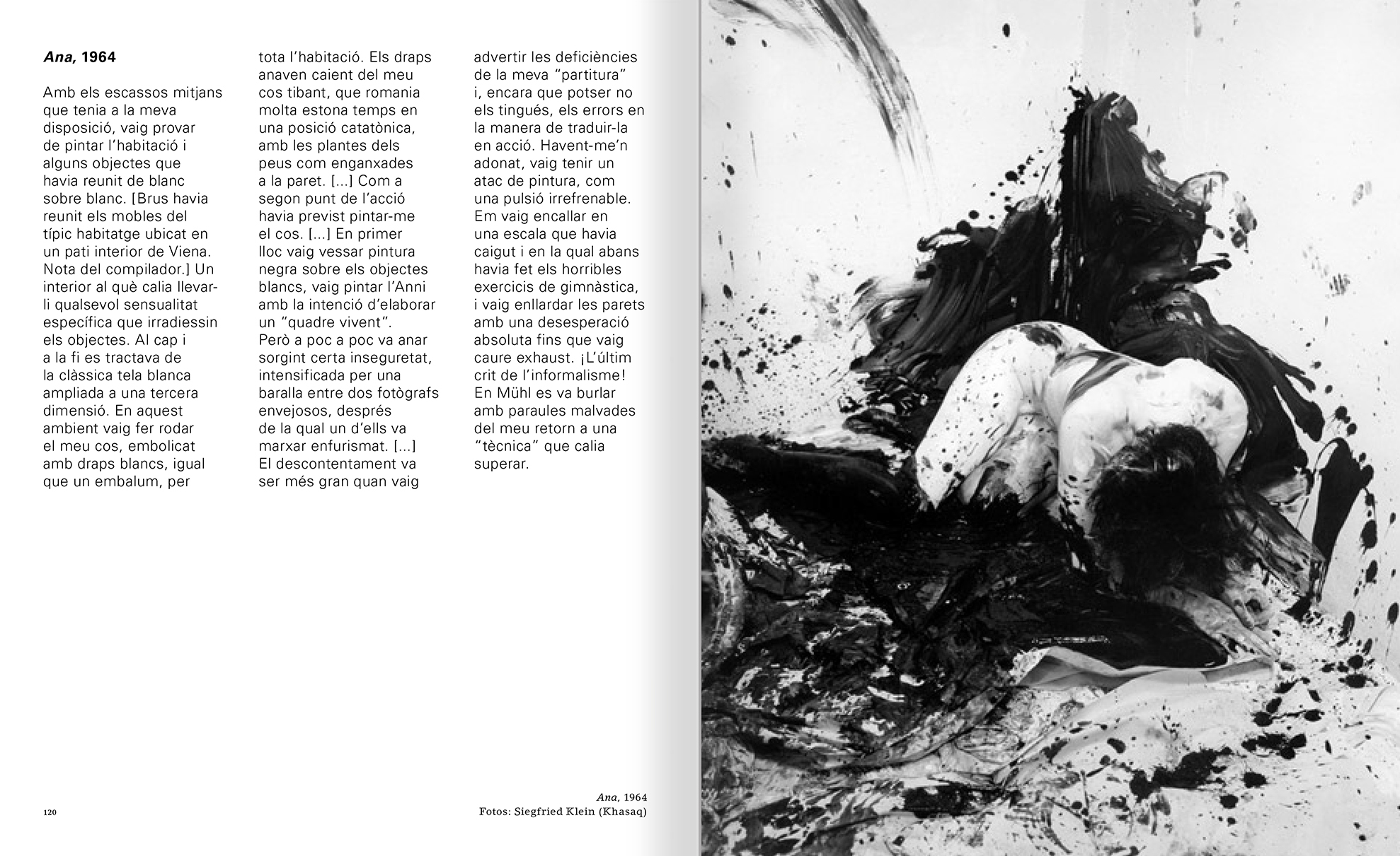 Selection from the catalogue 'Günter Brus. Nervous stillness on the horizon', pages 120 and 121