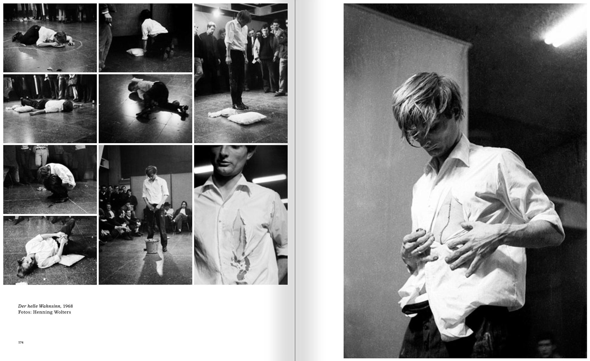 """Selección del catálogo """"Günter Brus. Quietud nerviosa en el horizonte"""" páginas 174 y 175"""