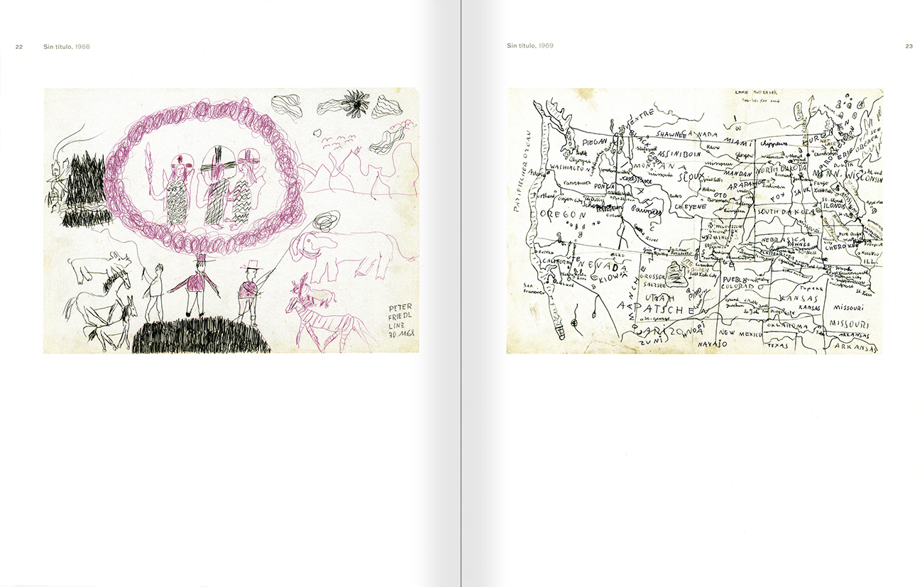 Selection from the catalogue 'Peter Friedl: Work 1964-2006', pages 22 and 23