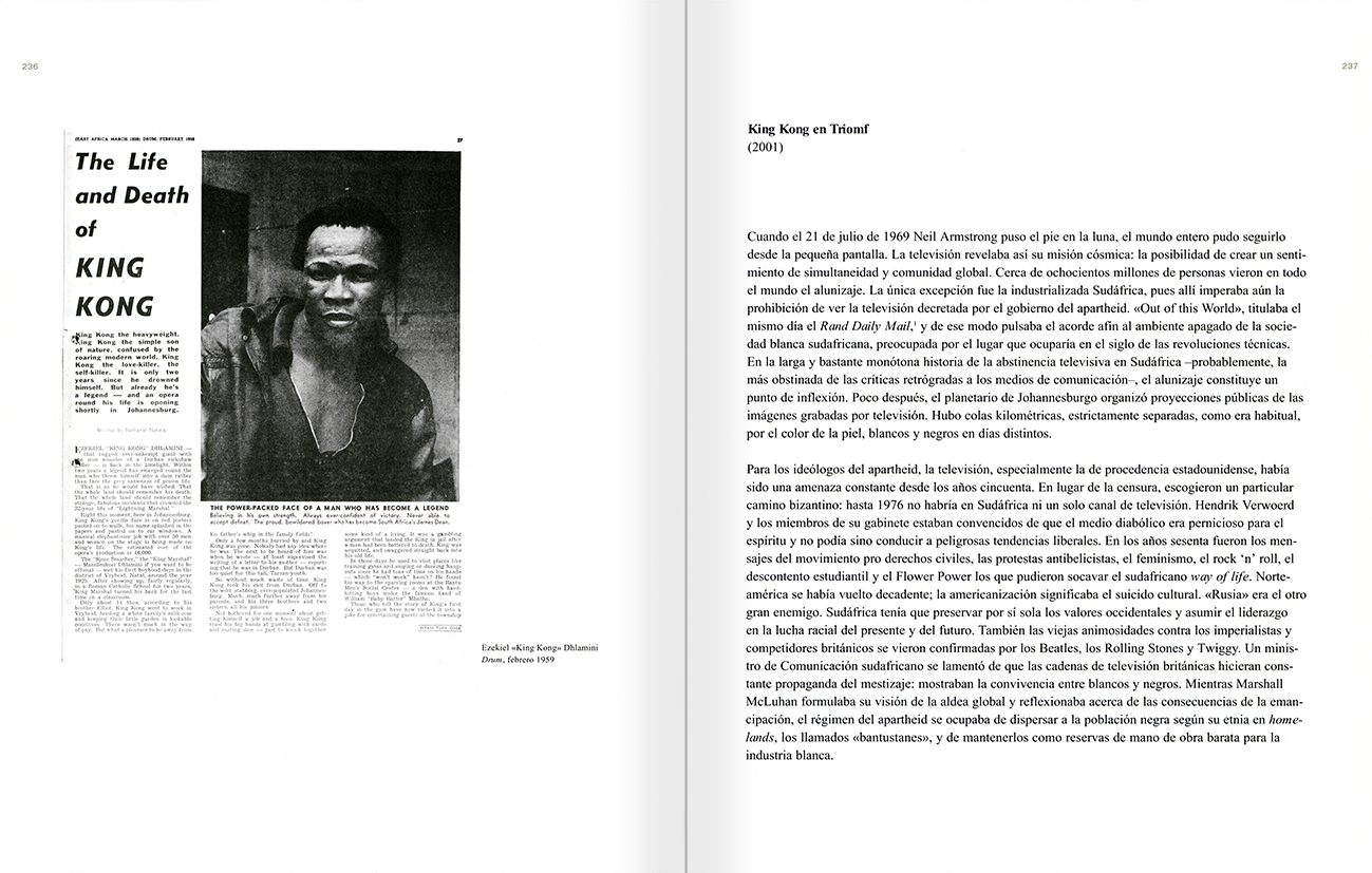 Selection from the catalogue 'Peter Friedl: Work 1964-2006', pages 236 and 237