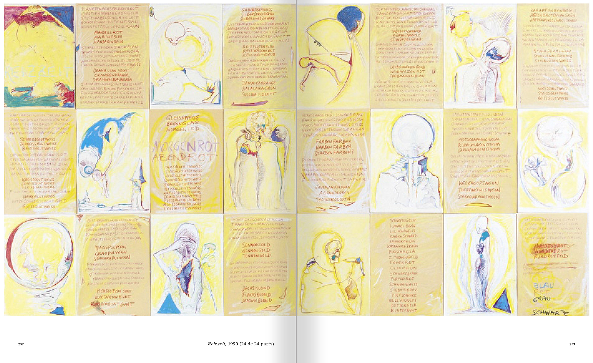Selection from the catalogue 'Günter Brus. Nervous stillness on the horizon', pages 252 and 253