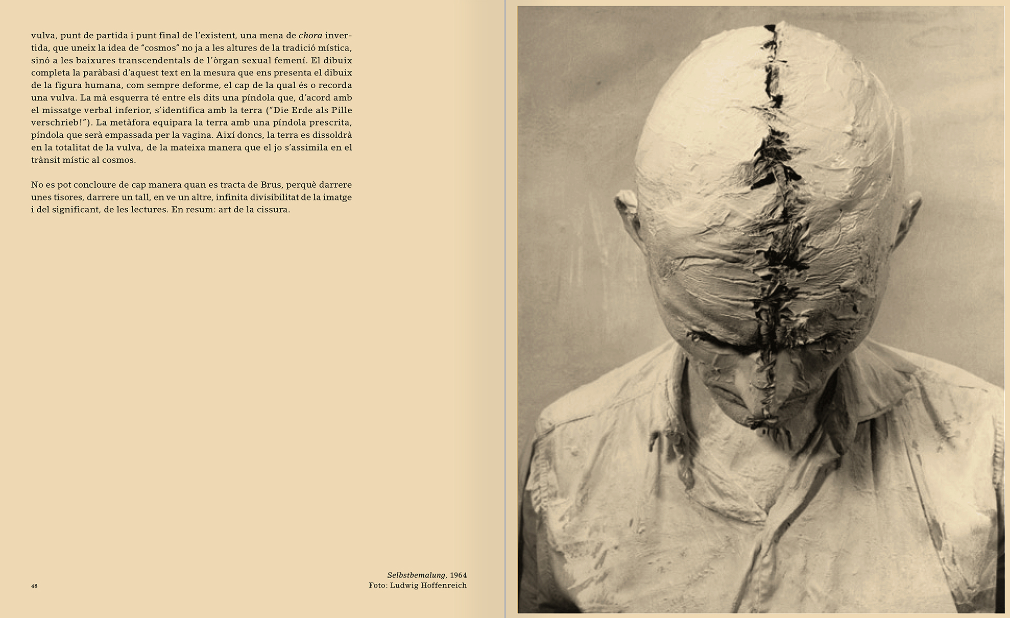 Selection from the catalogue 'Günter Brus. Nervous stillness on the horizon', pages 48 and 49