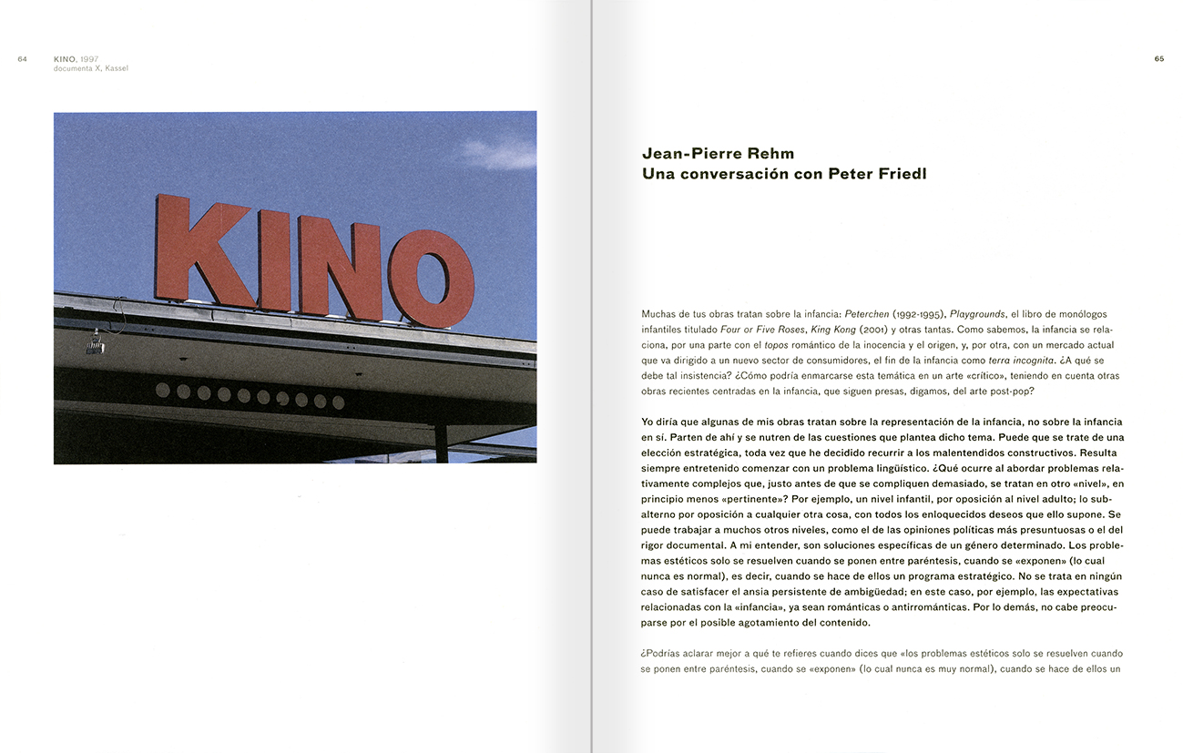 Selection from the catalogue 'Peter Friedl: Work 1964-2006', pages 64 and 65