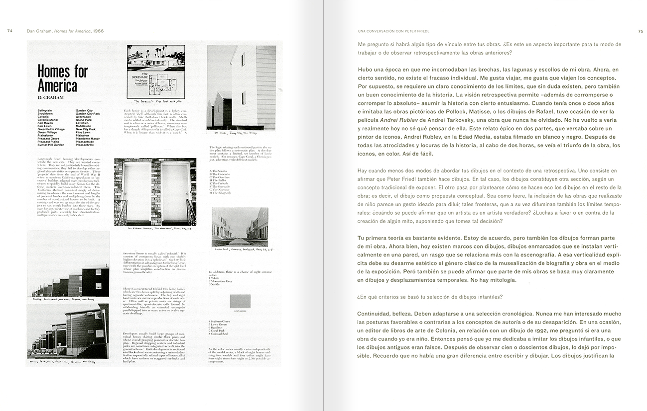 Selection from the catalogue 'Peter Friedl: Work 1964-2006', pages 74 and 75