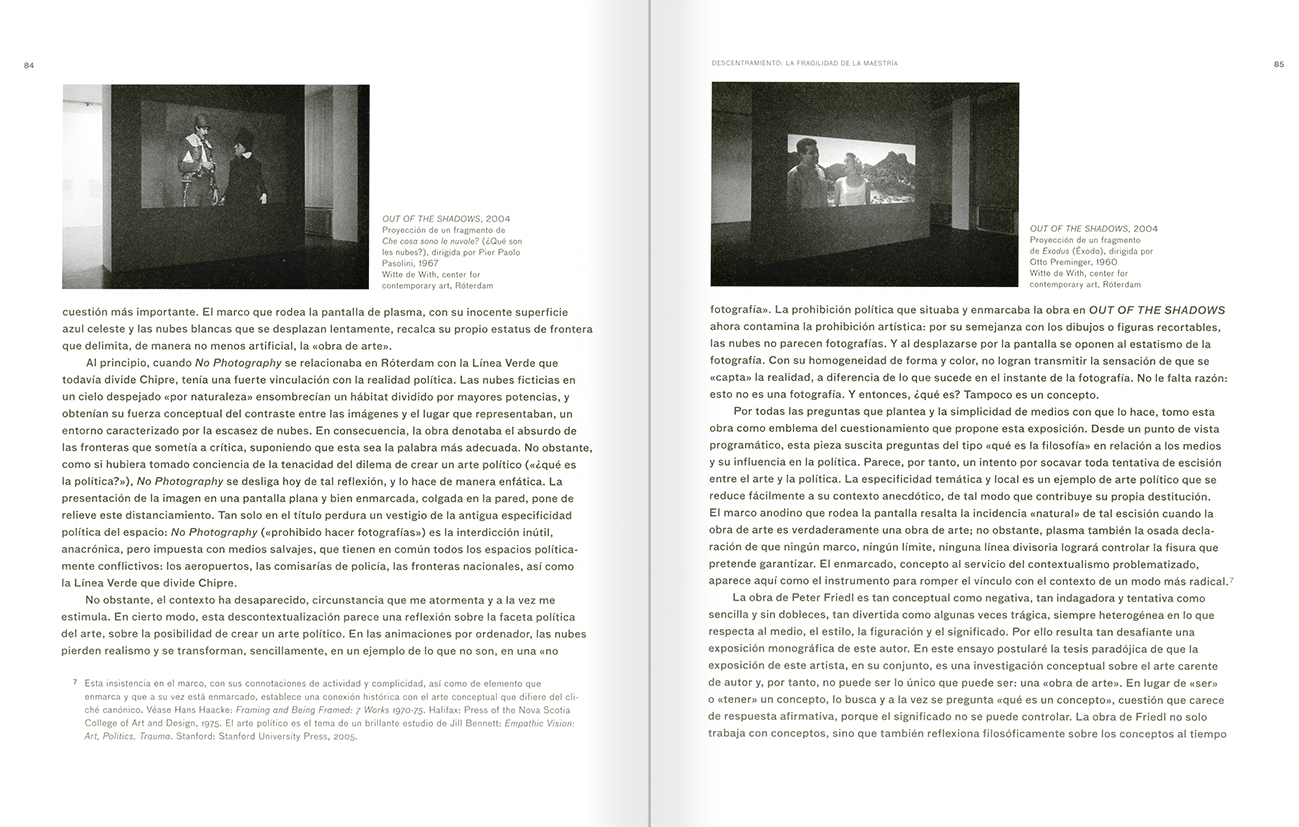 Selection from the catalogue 'Peter Friedl: Work 1964-2006', pages 84 and 85
