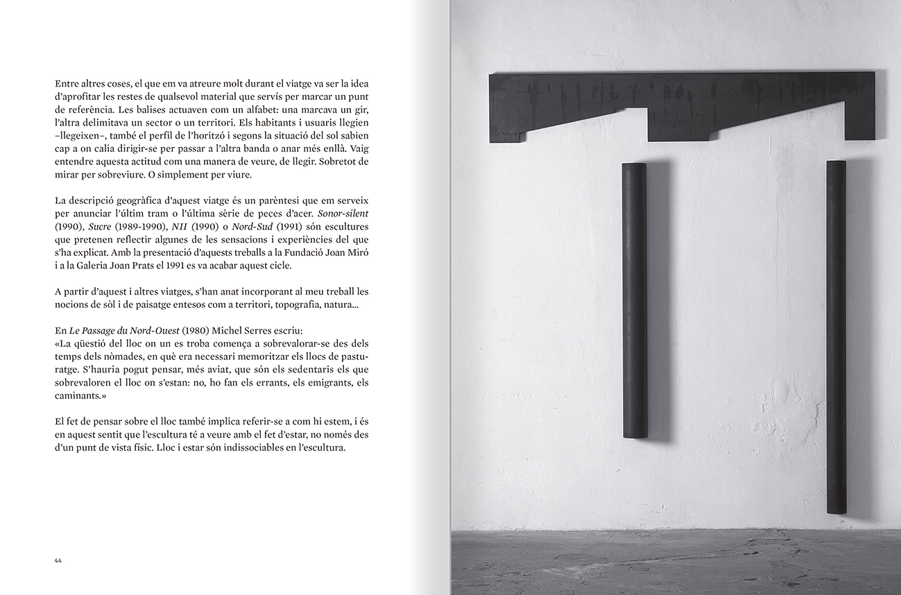 Selection from the catalogue 'Sergi Aguilar. Revers anvers', pages 44 and 45