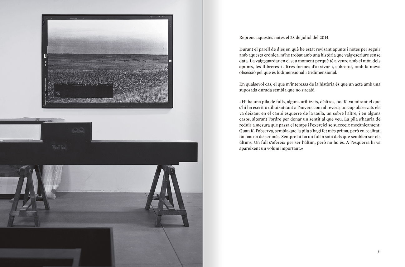 Selection from the catalogue 'Sergi Aguilar. Revers anvers', pages 80 and 81