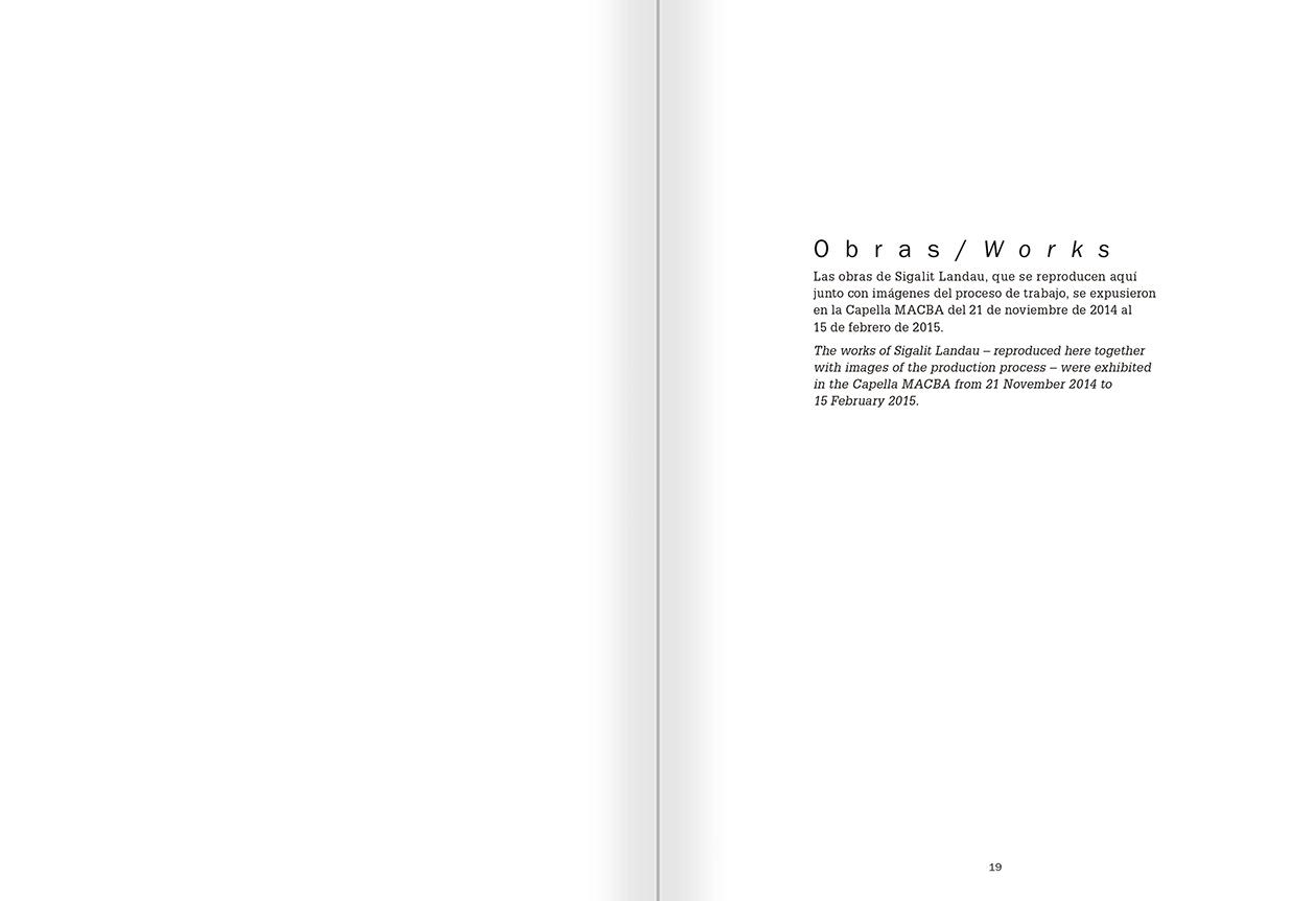 """Selección del catálogo """"La danza fenicia de la arena / Phoenician Sand Dance. Sigalit Landau"""", páginas 18 y 19"""