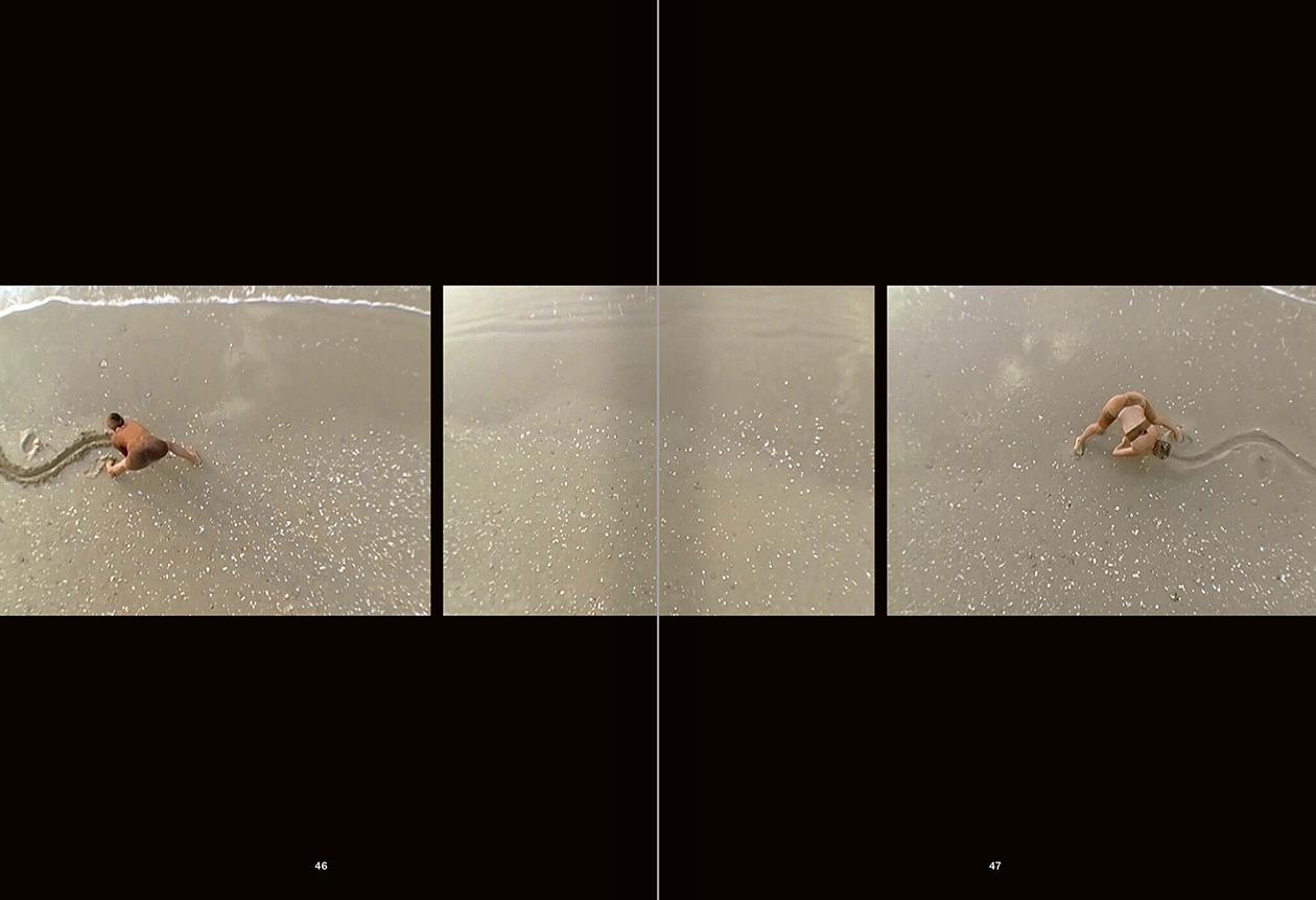 Selection from the catalogue 'La danza fenicia de la arena / Phoenician Sand Dance. Sigalit Landau', pages 46 and 47