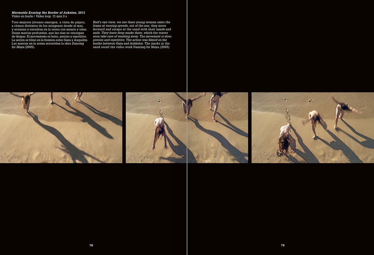 Selection from the catalogue 'La danza fenicia de la arena / Phoenician Sand Dance. Sigalit Landau', pages 78 and 79