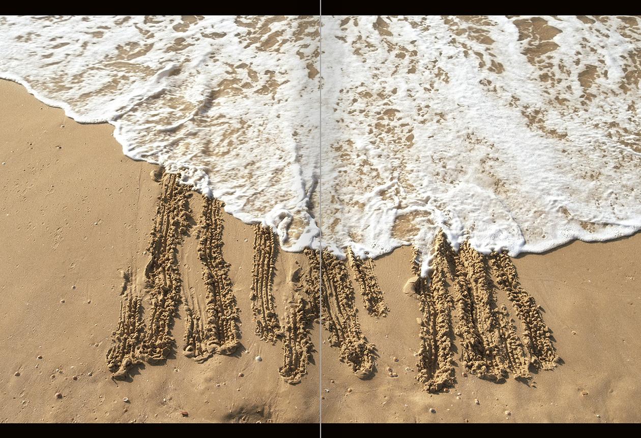 """Selección del catálogo """"La danza fenicia de la arena / Phoenician Sand Dance. Sigalit Landau"""", páginas 82 y 83"""