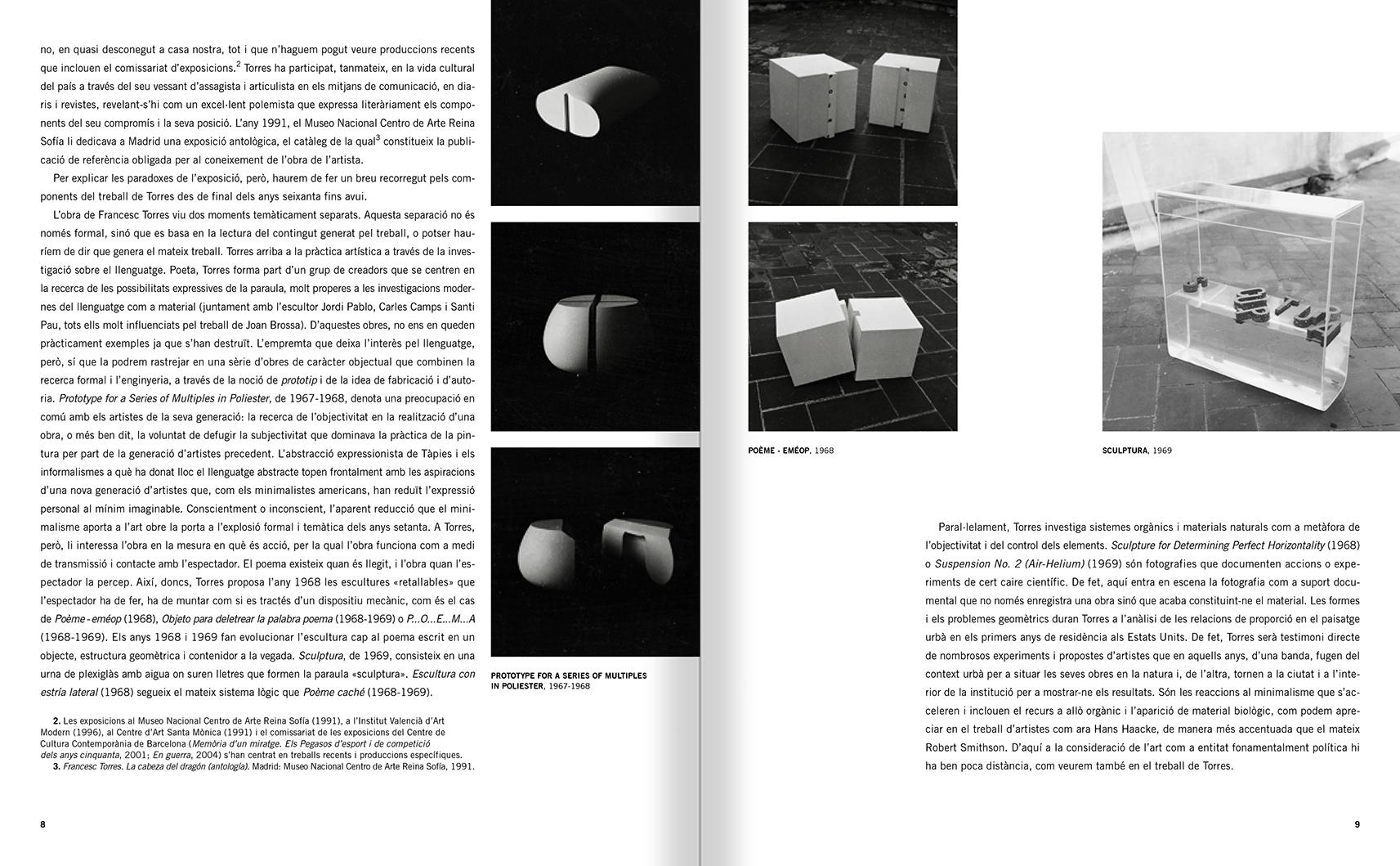 """Selecció del catàleg """"Francesc Torres. Da capo"""" pàgines 8 i 9"""