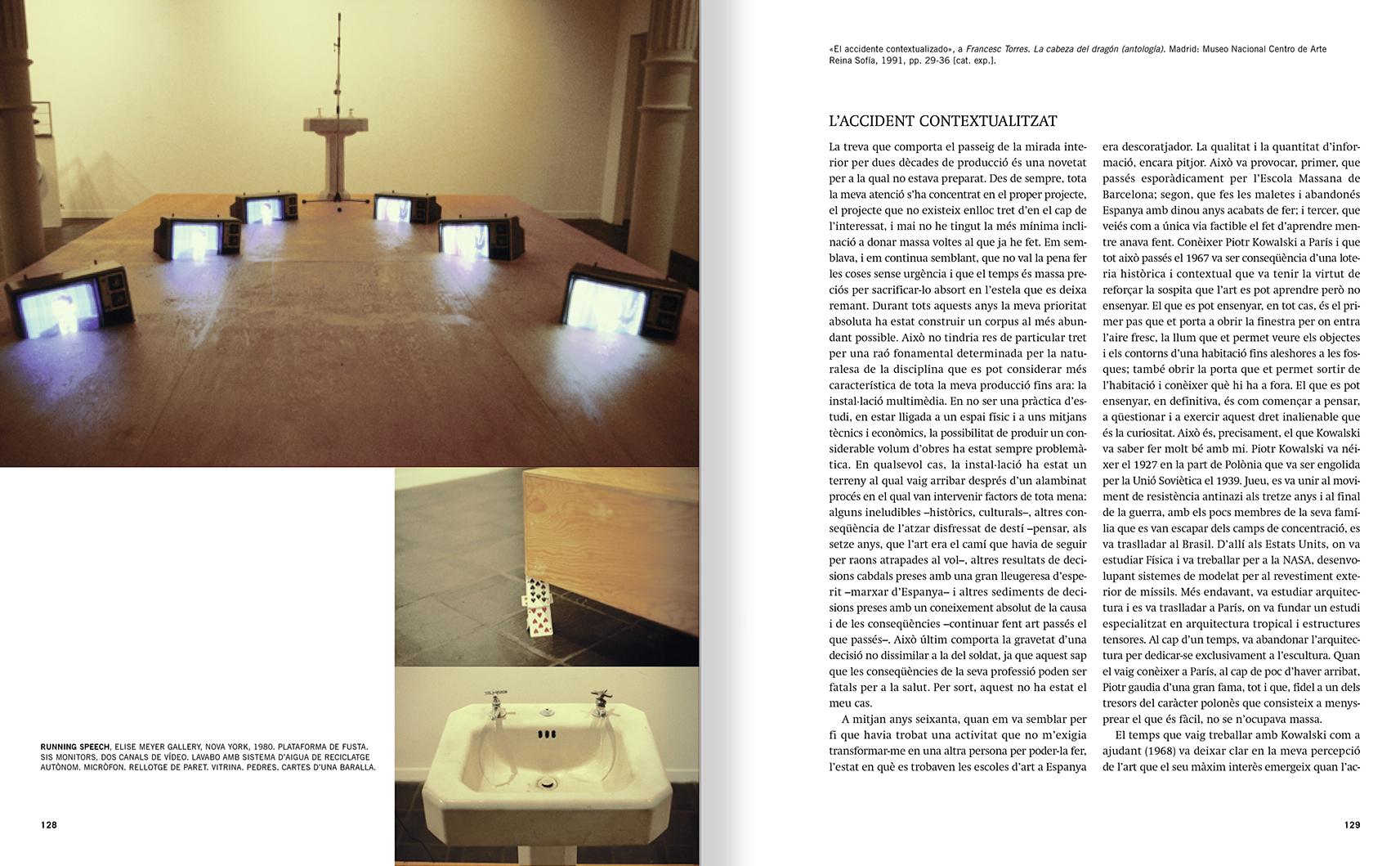 """Selecció del catàleg """"Francesc Torres. Da capo"""" pàgines 128 i 129"""