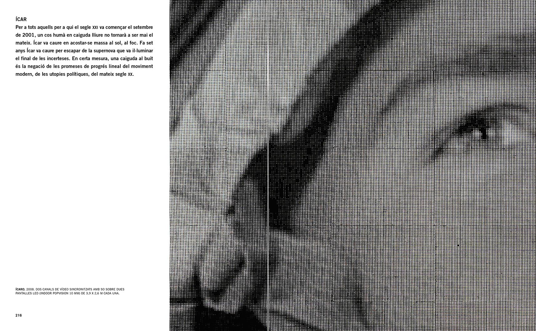 Selection from the catalogue 'Francesc Torres. Da capo', pages 216 and 217